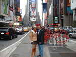 Elena and Chris in TImes Square